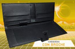 CHEQUERA CON BROCHE