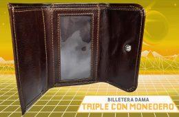 BILLETERA DE DAMA TRIPLE